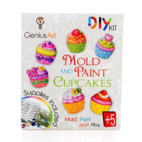 Genius Art Mold and Paint Cupcakes - Girls Design Kit - Arts