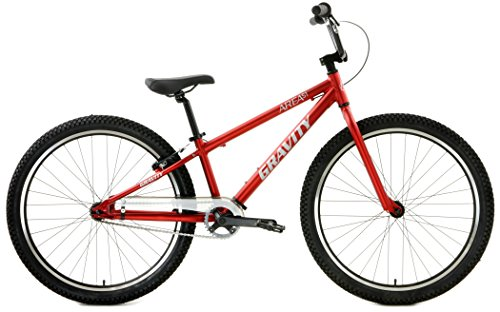 Gravity Area 51 Aluminum BMX Bike 26 inch Wheels (Red) For Sale