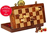 Today's Deal - AB handicrafts 10X10 Inch Chess Set with Red Color - Folding ...