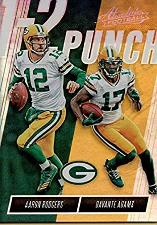Amazon Com 2018 Absolute One Two Punch 9 Aaron Rodgers