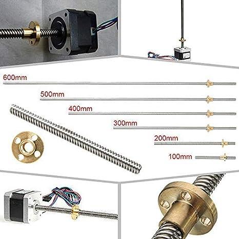 AiCheaX – 100 – 600 mm impresora 3D T8 vástago de tuerca de ...