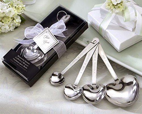 60 ''Love Beyond Measure'' Heart-Shaped Measuring Spoons in Gift Box