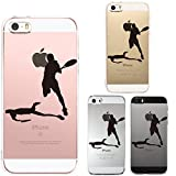 Iphone Se Iphone5s /5 Shell Case Anti-Scratch Clear Back for Iphone Se Iphone 5s /5 Tennis Smash!