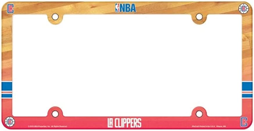 1 PC New LA Los Angeles Clippers Plastic License Plate Frame