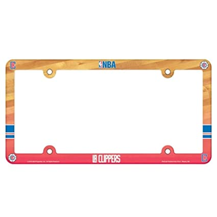 Team Color NBA Los Angeles Clippers Full Color License Plate Frame One Size