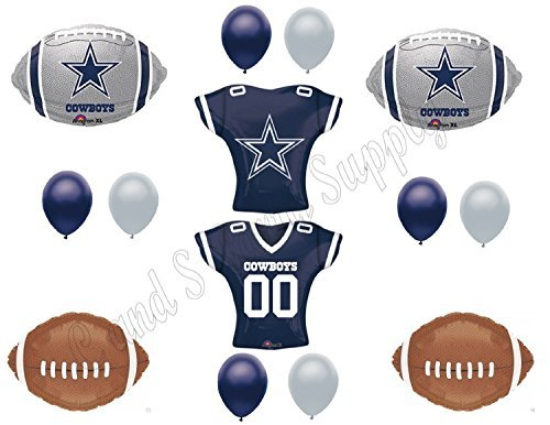 DALLAS COWBOYS JERSEY Birthday Party Balloons Decoration Supplies]()