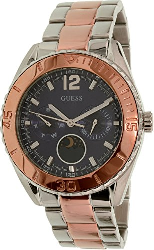 GUESS Women's U0565L3 Two-Tone Stainless Steel Blue Dial Watch (Guess Watches For Women Blue)
