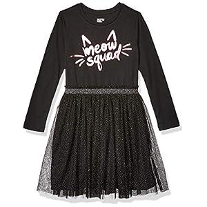 Best Epic Trends 51BTPXtiz6L._SS300_ Amazon Brand - Spotted Zebra Girls' Knit Long-Sleeve Sparkle Tutu Dresses