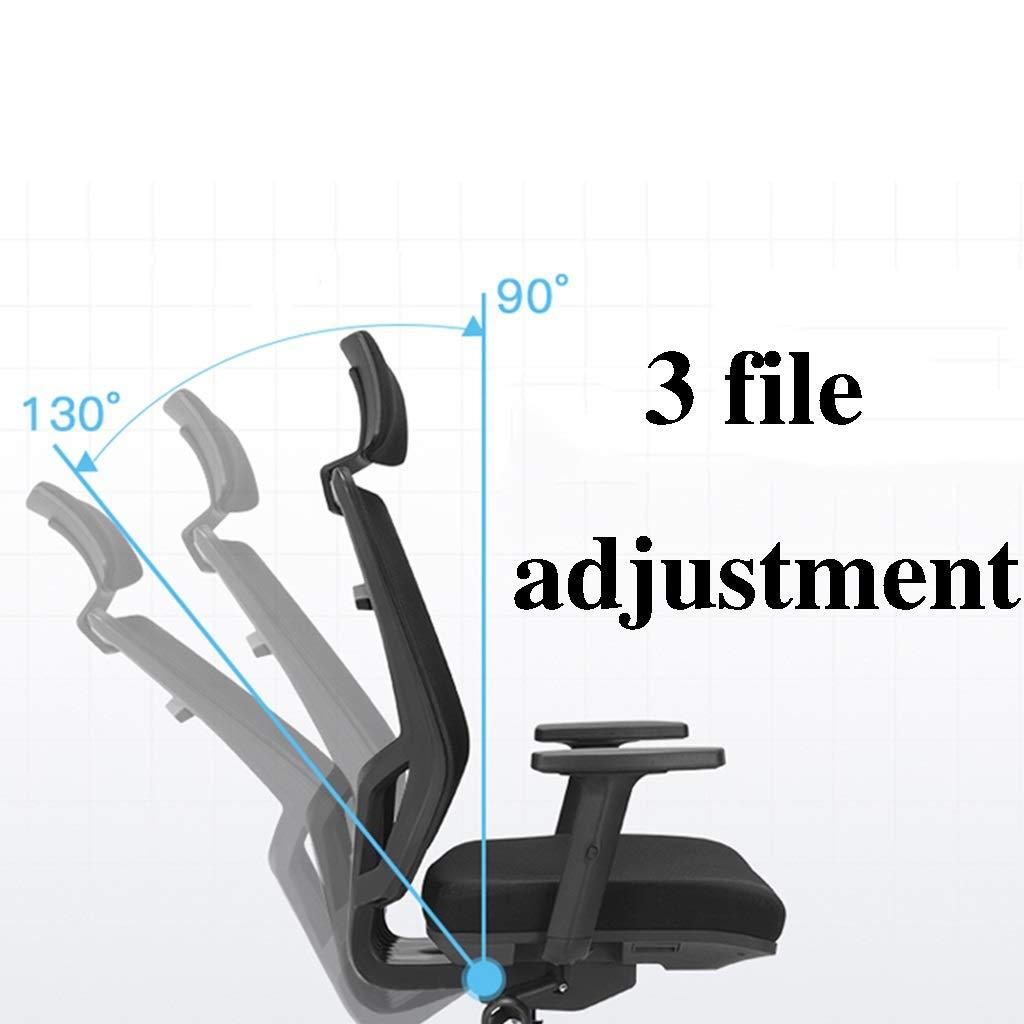 ZZHZY BBGS svängbar kontorsstol, ergonomisk stol, skydda midjan, hem datorstol, justerbar (färg: A) a