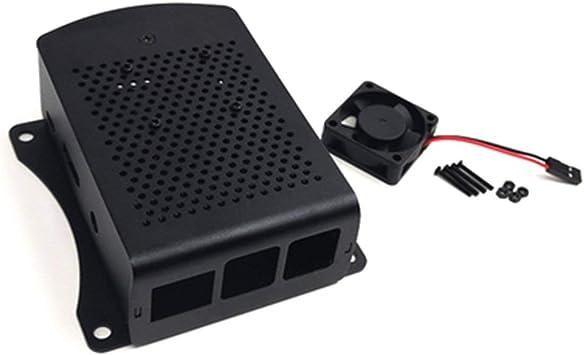 JohnJohnsen para Raspberry Pi 2 3 Modelo B + Caja de Aluminio Caja metálica con Caja de Ventilador: Amazon.es: Electrónica