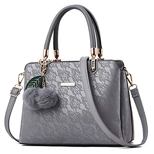 Messenger Pendant Ball Europe Lace hlh gris Claro Bag Hair 2018 Flower And America Bag Shoulder Fashion Ladies Handbag qXwROI