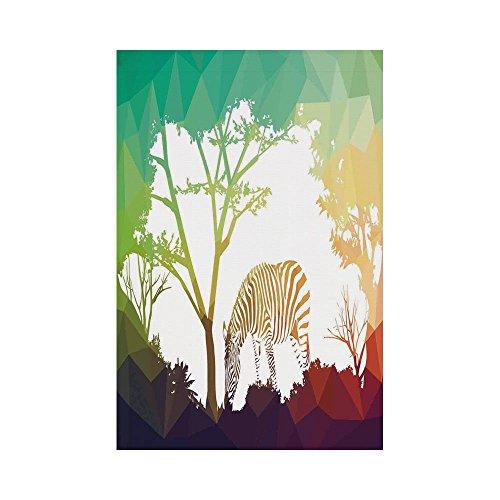 Polyester Garden Flag Outdoor Flag House Flag Banner,Wildlife Decor,Digital Zebra Figure in Fractal Display Vivid Colors A Look at Kenya Illustration,Multi,for Wedding Anniversary Home Outdoor Garden -