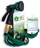 Premium 50 FT Expandable Garden Hose, Patent Pending Spandex Material 100% Brass Fittings & Best 8 Function Spray Nozzle by Dignitree®, Kink Free, High-Quality Double Wall Layer Latex Durable Core