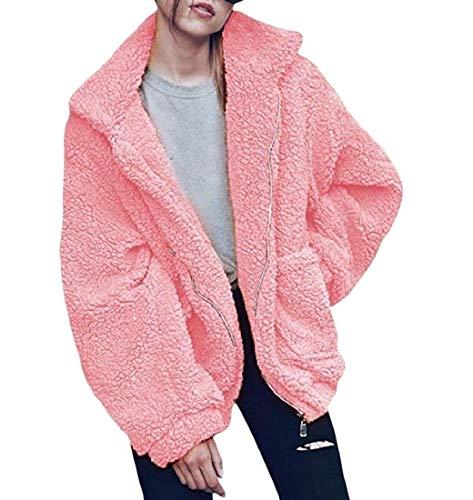 In Rosa pelliccia Pile Cappotto Eco Giacca Caldo Outwear In Peluche Tenere Energywomen xqUYaZwf4