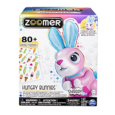 Zoomer Hungry Bunnies Shreddy, Interactive Robotic Rabbit That Eats, Ages 5 & Up: Toys & Games