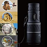 Monocular Telescope Mokao Super Clear Portable High Power Night Vision Hiking Binoculars
