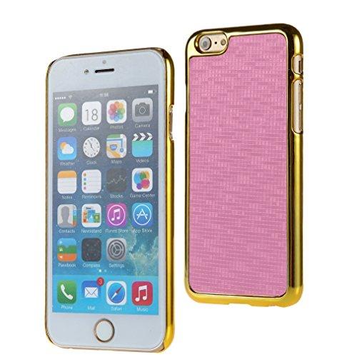 Bralexx 7131Gold-7125Rosa-KARO Smartphone Case passend für Apple iPhone 6 11,9 cm (4,7 Zoll) gold/rosa-Karo