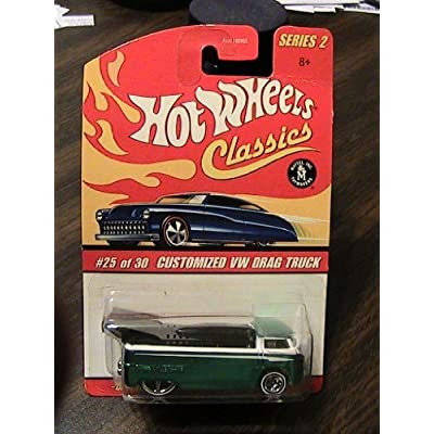 Hot Wheels Classics Series 2 Customized Green/White VW Drag Truck 25/30 Collector Car by Hot Wheels: Toys & Games