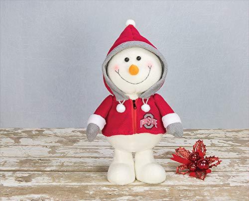 - Ohio State Buckeyes NCAA Happy Hoodie Snowman Stuffed Animal