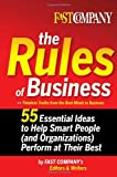 Fast Company the Rules of Business, Fast Company's Editors and Writers, 0385527314