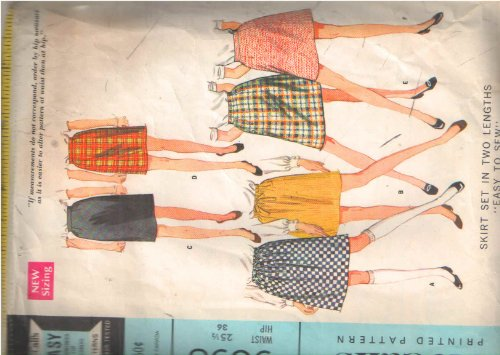 Mccalls 9398 Drawstring Waist or Waistband Darted Skirts in 2-lengths in Slim, Gathered, or A-line Styles Sewing Pattern