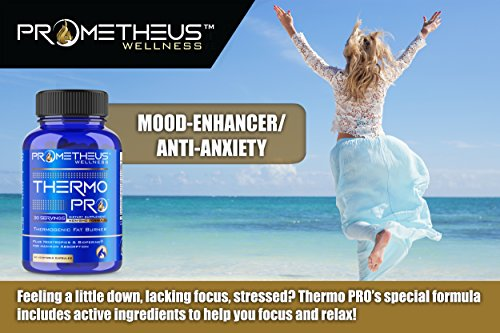 Prometheus Wellness Thermo PRO Thermogenic Belly Fat Burner Weight Loss Pills Garcinia Cambogia CLA Green Tea Raspberry Ketones Green Coffee Bean Extract Forskolin L-Theanine Nootropics with BioPerine