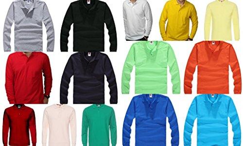 Bigood Vert Longue Mode Coton Veste Manche Col Casual shirt Chemise Hiver Léger Homme T Automne 70O4Sqrw0