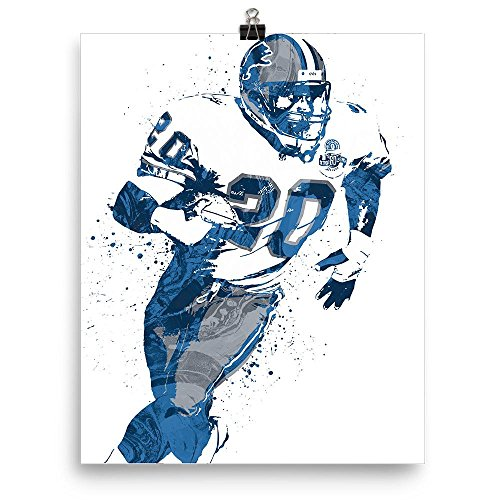 Barry Sanders Wall - Barry Sanders Detroit Lions Poster