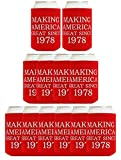 Republican Gifts for 40th Birthday Making America Great Since 1978 Birthday Gag Gifts for Can Coolie Drink Coolers (12)