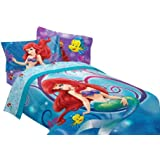Disney Little Mermaid Shimmer and Gleam 72 by 86-Inch Comforter, Twin/Full