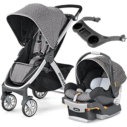 Chicco - Bravo carrito trio sistema - Lilla con bandeja: Amazon.es: Bebé