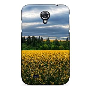 Fashionable Style Case Cover Skin For Galaxy S4- A Field Of Wildflowers In New Zeal