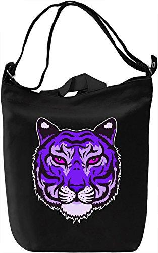 Purple Tiger Borsa Giornaliera Canvas Canvas Day Bag  100% Premium Cotton Canvas  DTG Printing 