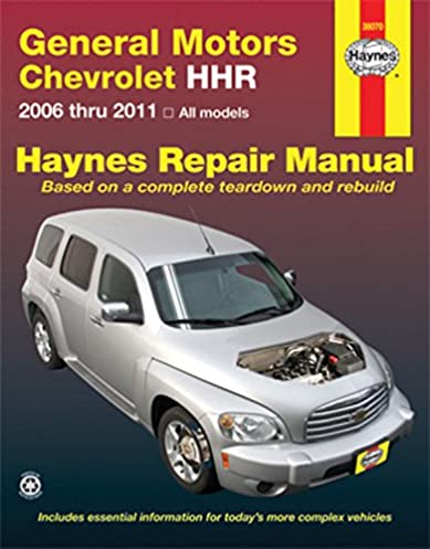 gm chevrolet hhr 2006 2011 repair manual haynes repair manual rh amazon com repair manual for 2006 honda rancher repair manual for 2006 honda element