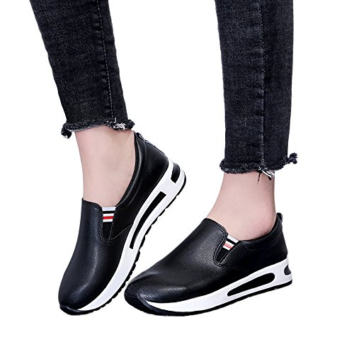 Gyoume Slip On Boots Women Ankle Boots Platform Sport Shoes Flat Thick Bottom Shoes Outdoor Walking Boots Shoes -