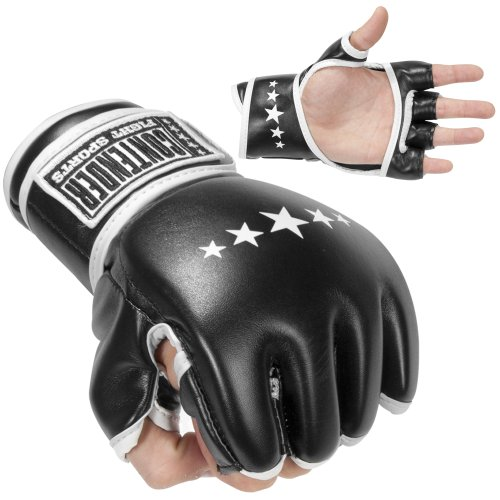 Contender Fight Sports MMA Synthetic Hybrid Training Gloves, Large ()