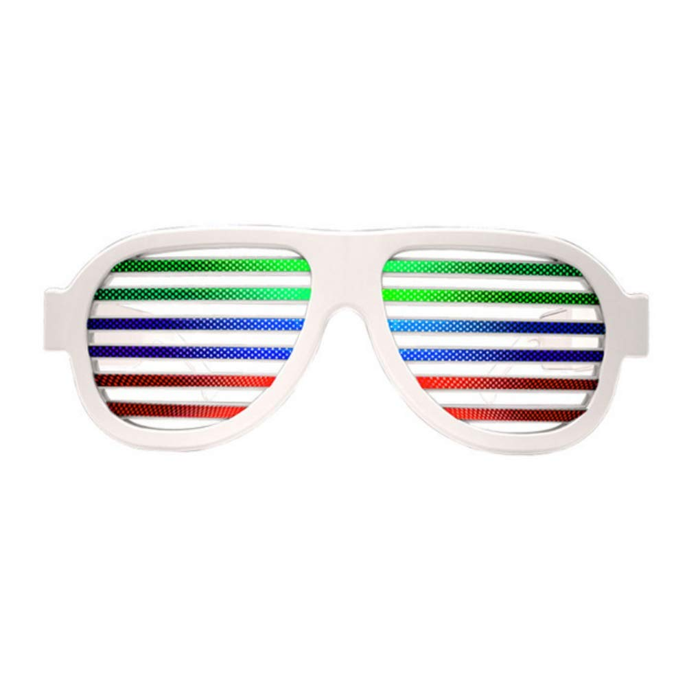 Colorful Shutter Shades New Sound Activated Led Flashing Glasses SunGlass ZC