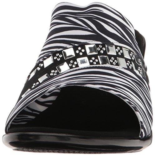 Onex Kvinders Maggy Kile Sandal Hvid Zebra TvzqjP3bz