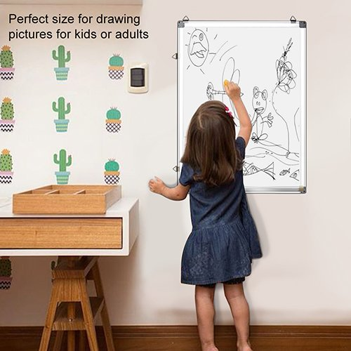 Magnetic White Board 24 x 18 Dry Erase Board Wall Hanging Whiteboard by maxtek (Image #6)