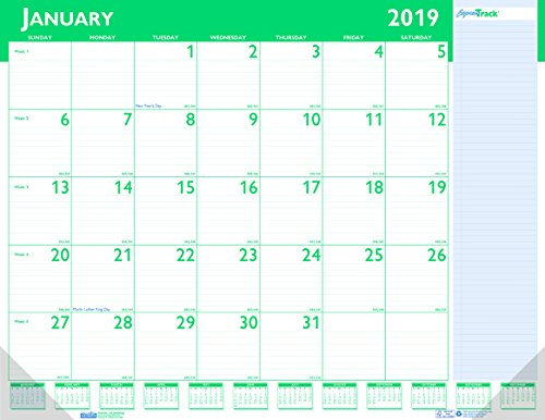 House of Doolittle 2019 Monthly Desk Pad Calendar, Express Track, 22 x 17 Inches, January - January (HOD148-19)