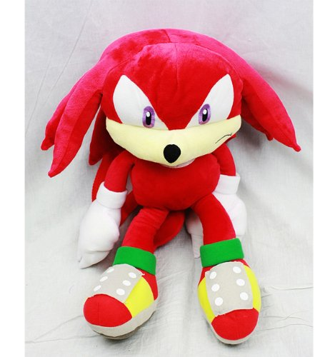 Sonic the Hedgehog Doll Plush Backpack - Knuckles Red (20 Inch) ()