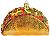 Pinnacle Peak Trading Company Taco Polish Glass Christmas Ornament Made in Poland Decoration Mexican Food
