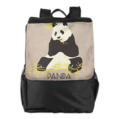 HSVCUY Personalized Outdoors Backpack,Travel/Camping/School-Panda Eating Bamboo Adjustable Shoulder Strap Storage Dayback For Women And Men