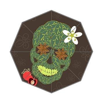Personalizado moda arte Emo Girl Skull Vector Art imagen Auto plegable paraguas
