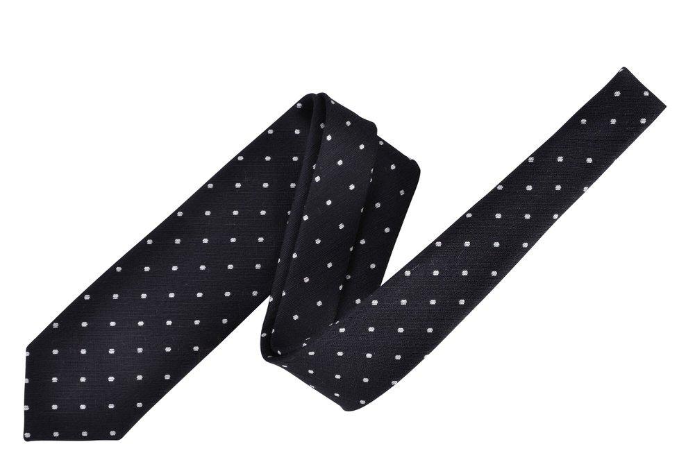 Tom Ford Black Polka Dot Neck Tie