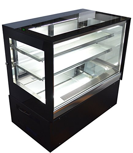 Countertop Refrigerated Cake Showcase Right Angle Bakery Cabinet Cooling Display Case with LED Light ()