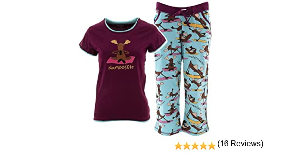 Amazon.com: Lazy One Na-moose-te Capri Pajama Set for Juniors XS: Clothing