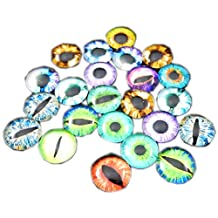 GraceAngie Mixed Style Dragon Eyes Round time gem cover Glass Cabochon Dome 8mm/10mm/12mm/15mm/25mm Jewelry Finding Cameo Pendant Settings