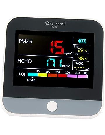 Garosa Medidor De Formaldehído Ligero Interior Monitor De Calidad del Aire TVOC PM2.5 Medidor