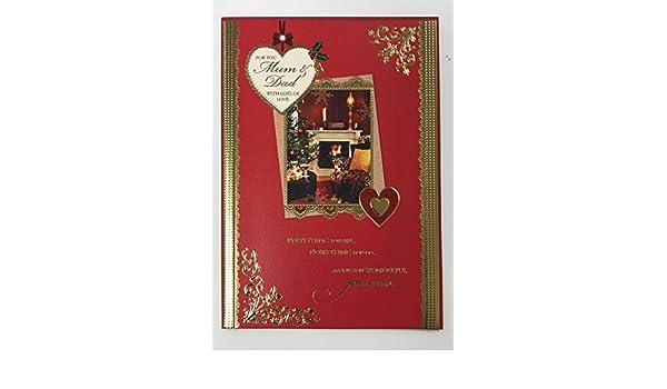 Tarjeta de Navidad para mamá y papá, tarjeta de felicitación de ...
